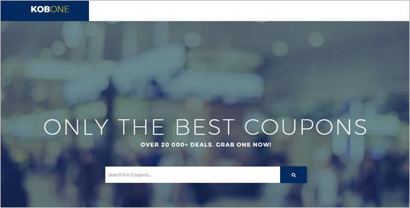 Deals Website HTML 5 Template