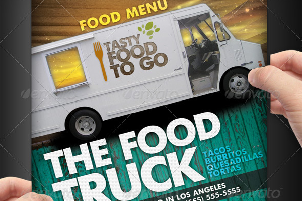 Delicious food truck Menu Flyer