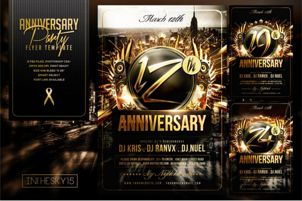 Deluxe Anniversary Flyer Ideas