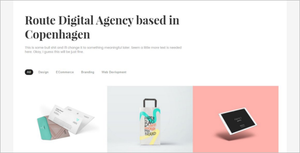Digital Bootstrap Portfilio Template