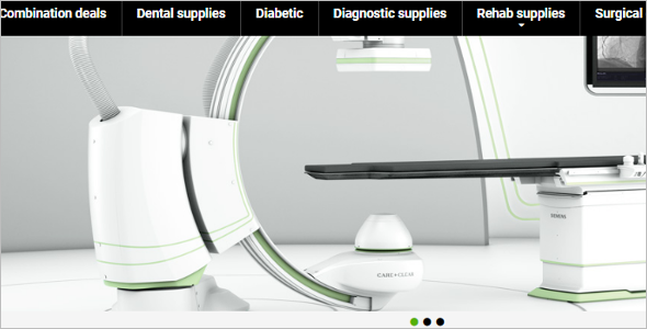 Download Medical Equipment Magento Template