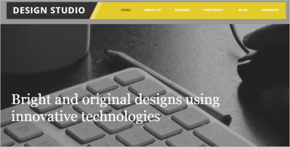 Download Studio Website Template