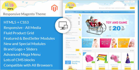 Download Toy Store Magento Template
