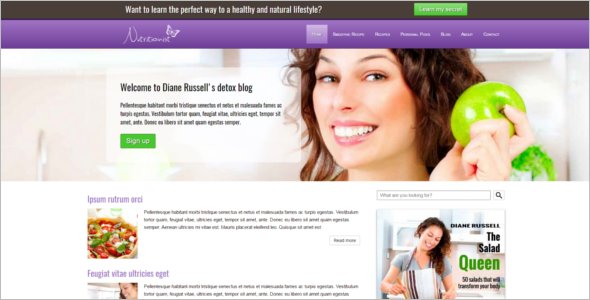 Download Weight Loss WordPress Template
