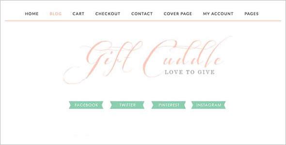 E-Commerce Gift WordPress Theme