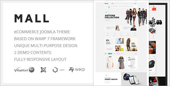 E-Commerce Responsive Joomla Template