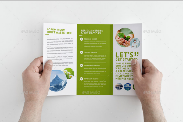 Eco-Friendly Green Environmental Brochures