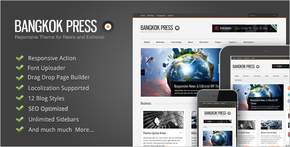 Editorial Blog WordPress Theme