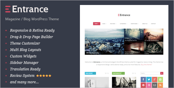 Editorial Review WordPress Theme
