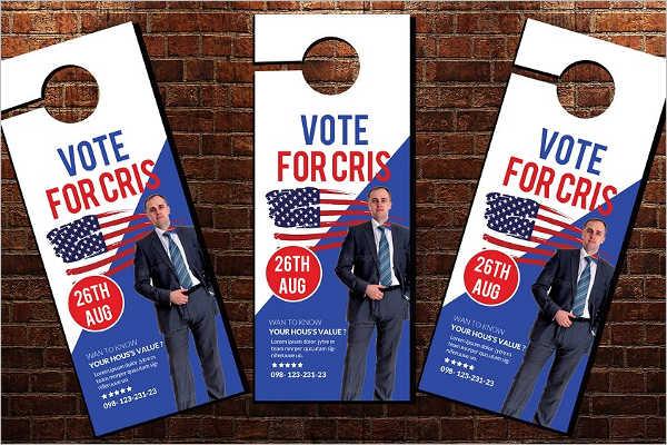 Elections Door Hanger Template