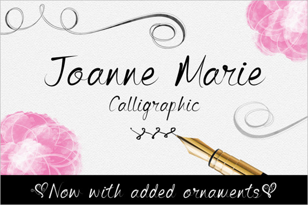 Elegant Calligraphy Design Fonts