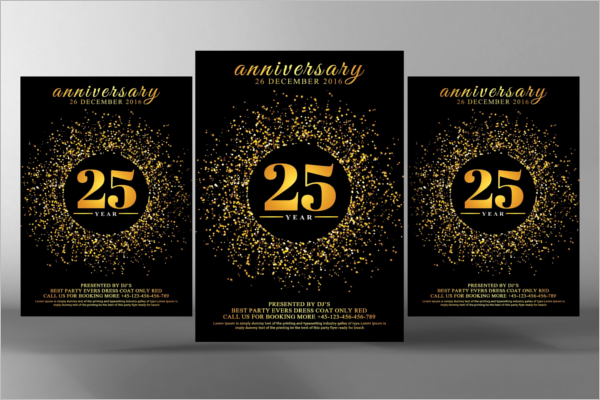 Elegant Corporate Golden Invitation