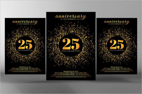 Elegant Corporate Golden Invitation