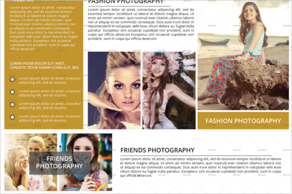 Elegant Corporate Photography Brochure
