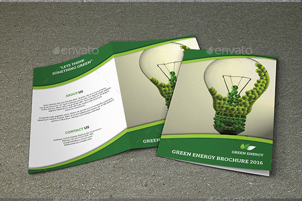 Elegant Green Brochure Design