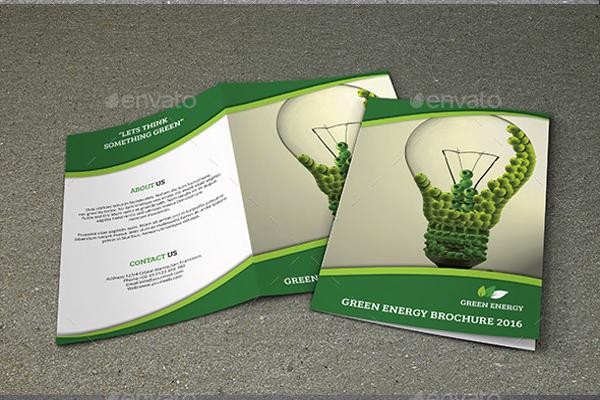 Elegant Green Brochure Design