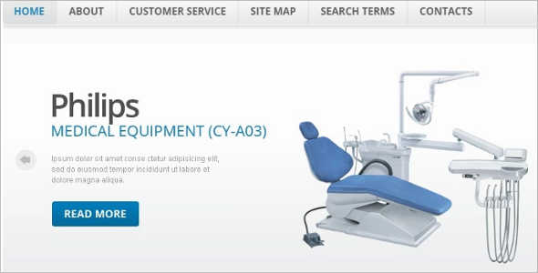 Elegant Medical Equipment Magento Theme