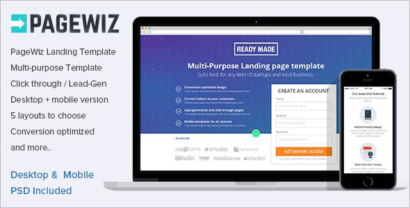 Elegant Pagewiz LandingPage Template