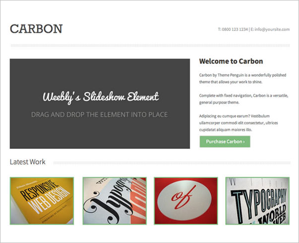 Elegant Weebly Themes