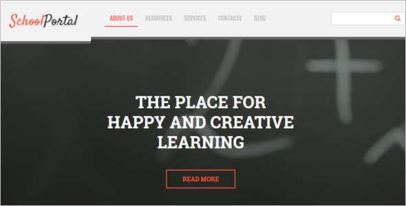 Elementary School Blog Template