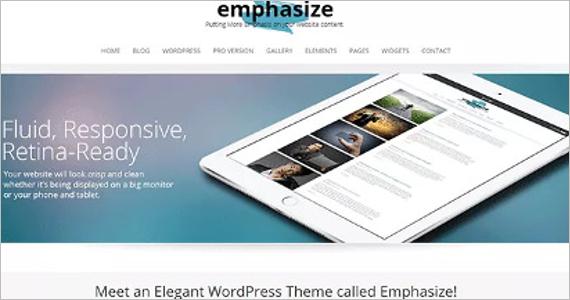 Emphasize Free WordPress Template