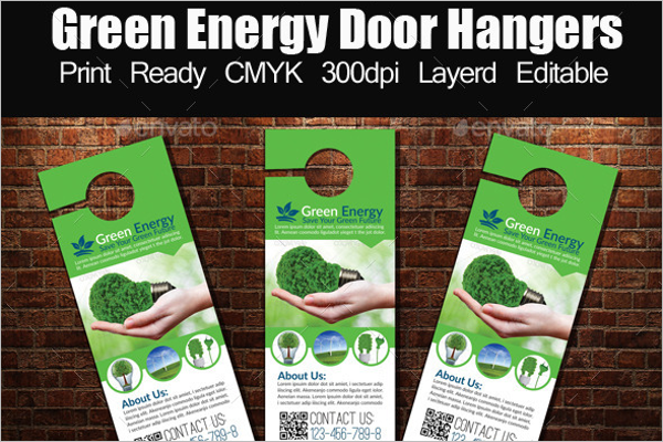 Energy Door Hangers Template