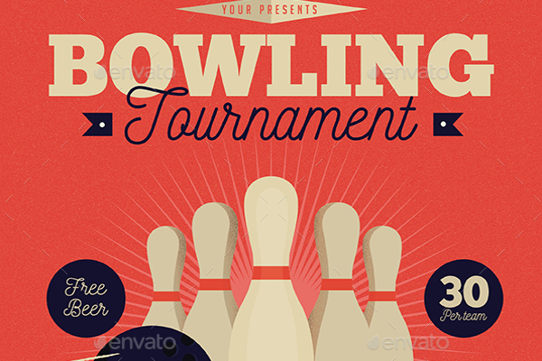 Enticing Event Bowling Flyer
