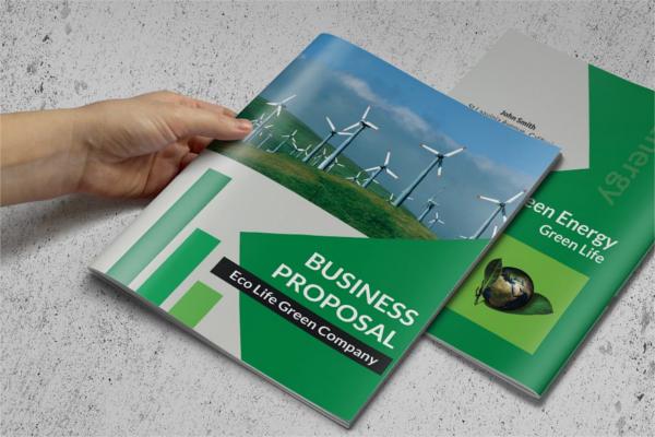 Enviromental Presentation Brochure Design