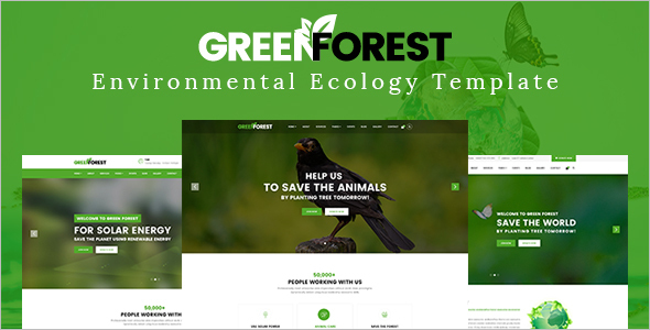 Environmental Green-Forest Magazine Template
