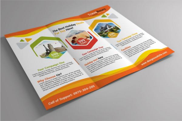 ExoticTourism Brochure Design