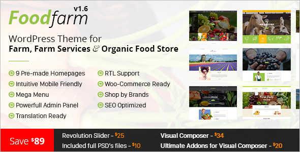 Farm Services Retail WordPress Theme