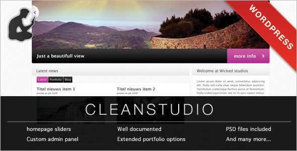 Fashion Studio Website Template