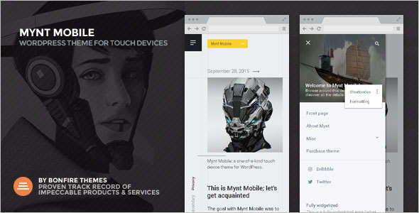 Fast Mobile WordPress Template