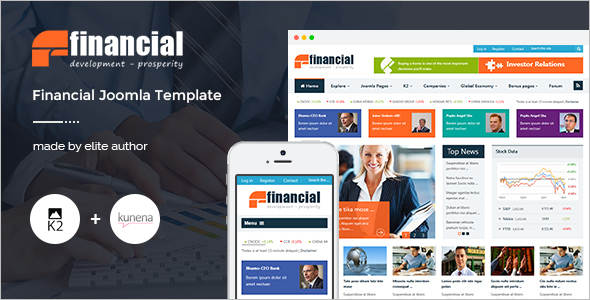 Finincial News Joomla Template