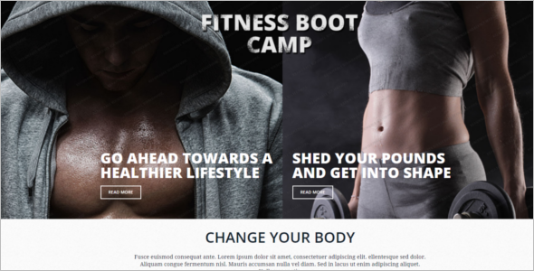 Fitness Boot Club Website Template
