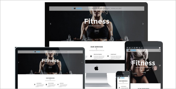 Fitness Business Website Template
