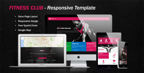 Fitness Club Website Tem[plate