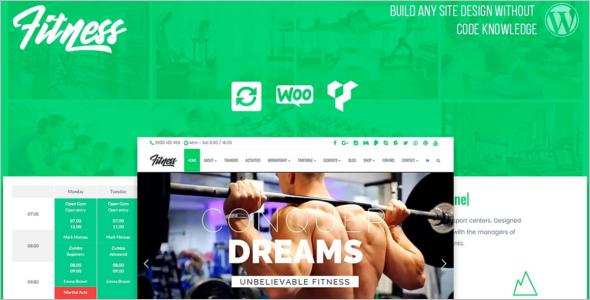 Fitness E-commerce Website Template