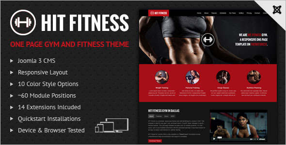 Fitness Publisher Joomla Template