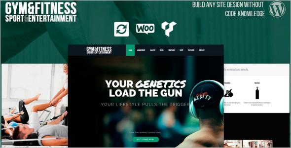 Fitness Support Website Template
