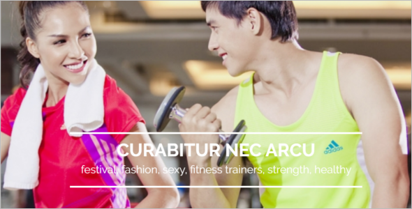 Fitness Trainer Website Template