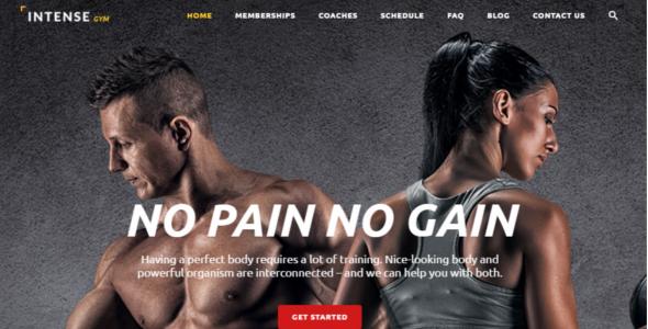 Fitness Website Template Design