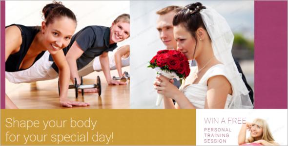 Fitness Website Template Model