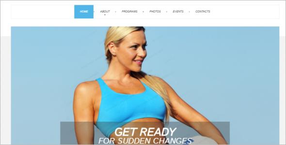 Fitness Weightloss Website Template