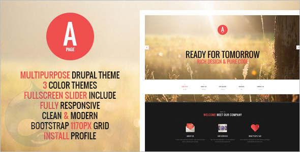 Flat Design Studio Drupal Themes