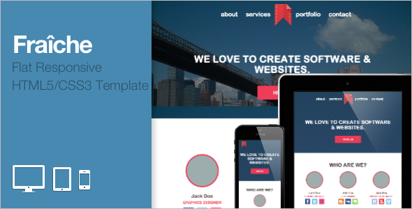 Flat Portfolio Bootstrap Template