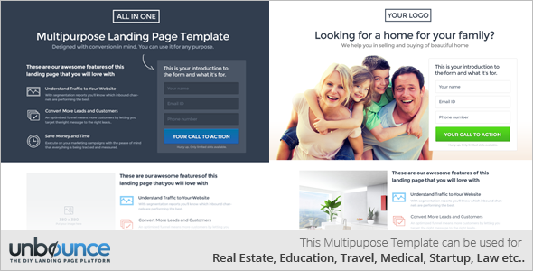 Flat Signup Landing Page Template