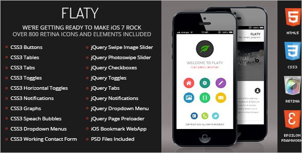 Flaty Jquery Mobile Template