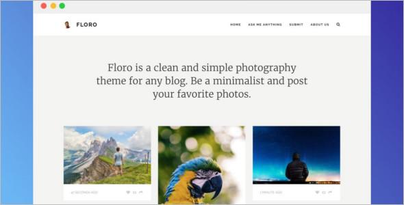 Floro Photography Tumblr Theme