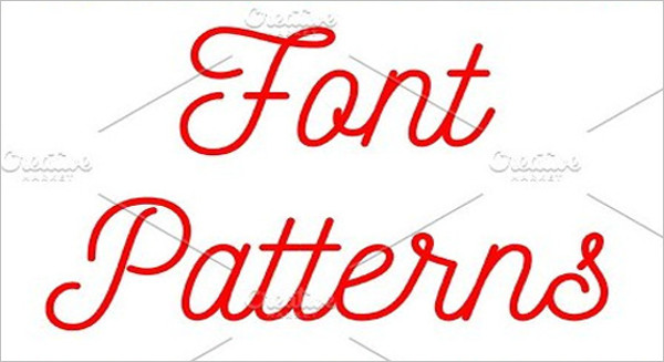 Font Seamless Patterns With Letter Number
